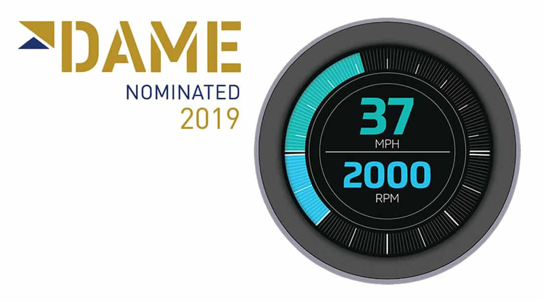 First Fully Round, Edge-to-Edge, CAN Display is DAME Award Nominated