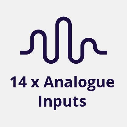 14 Analog Inputs