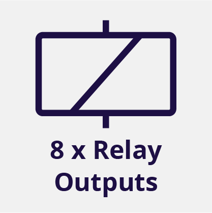8 Relay Outputs
