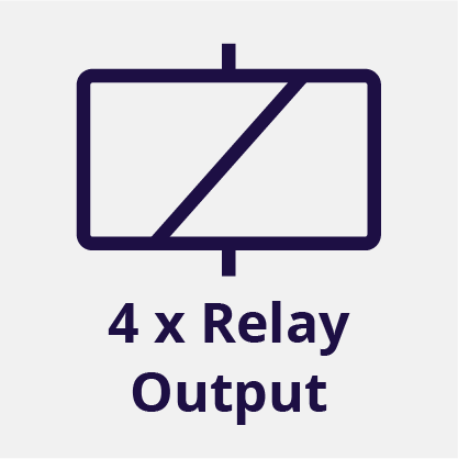 4 Relay Outputs