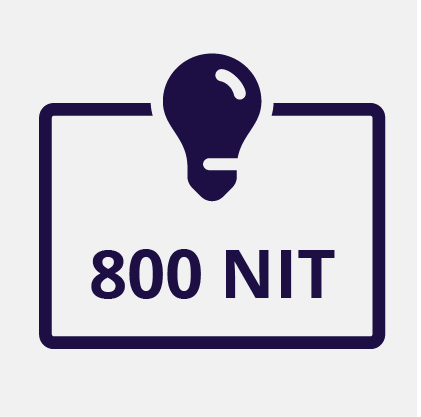 800 NIT Display Brightness
