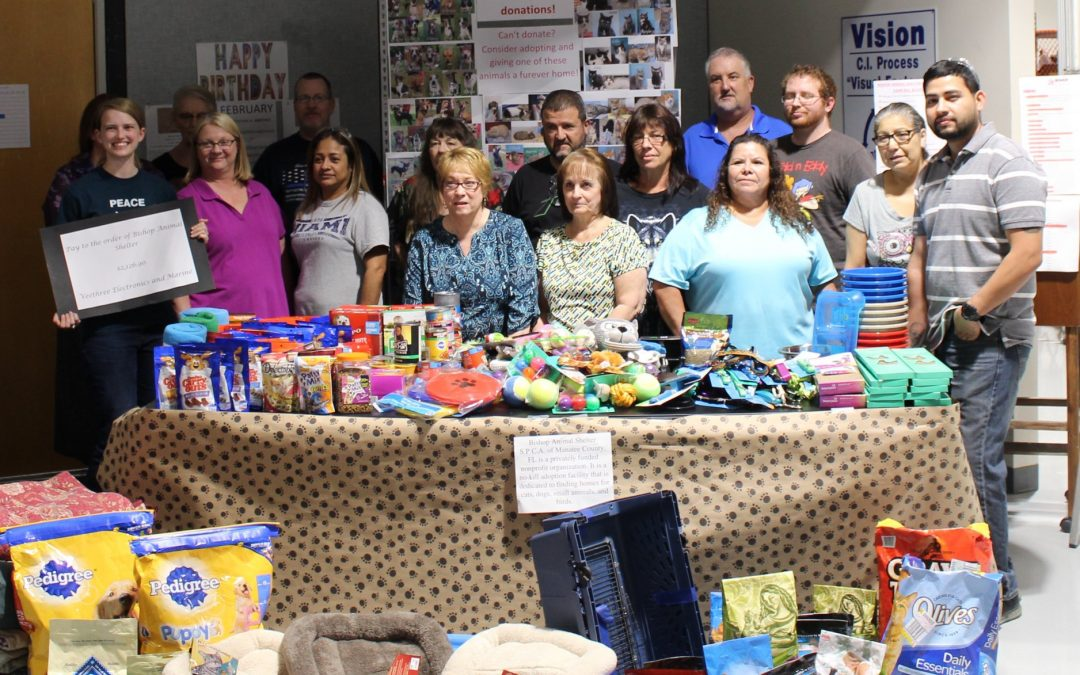 Veethree Supports Bishop Animal Shelter, SPCA of Manatee County Inc