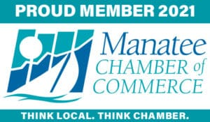 2021 Manatee Chamber of Commerce Proud Member Logo Bradenton Florida Lakewood Ranch Parrish Ellenton Palmetto Anna Maria Island Manufacturers